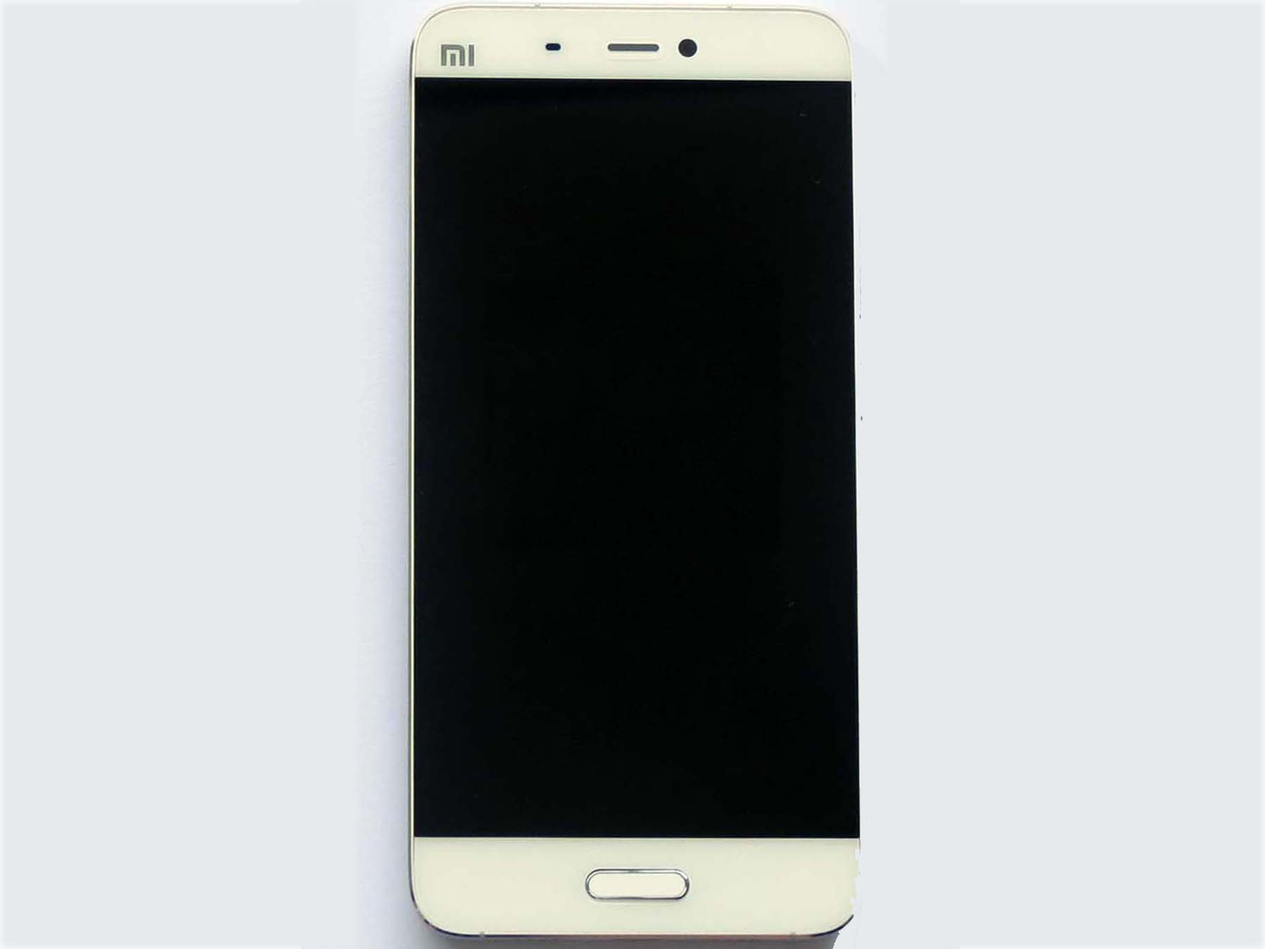 b98299363b6f Original LCD Touch Screen Digitizer Assembly with bezel for xiaomi 5–White