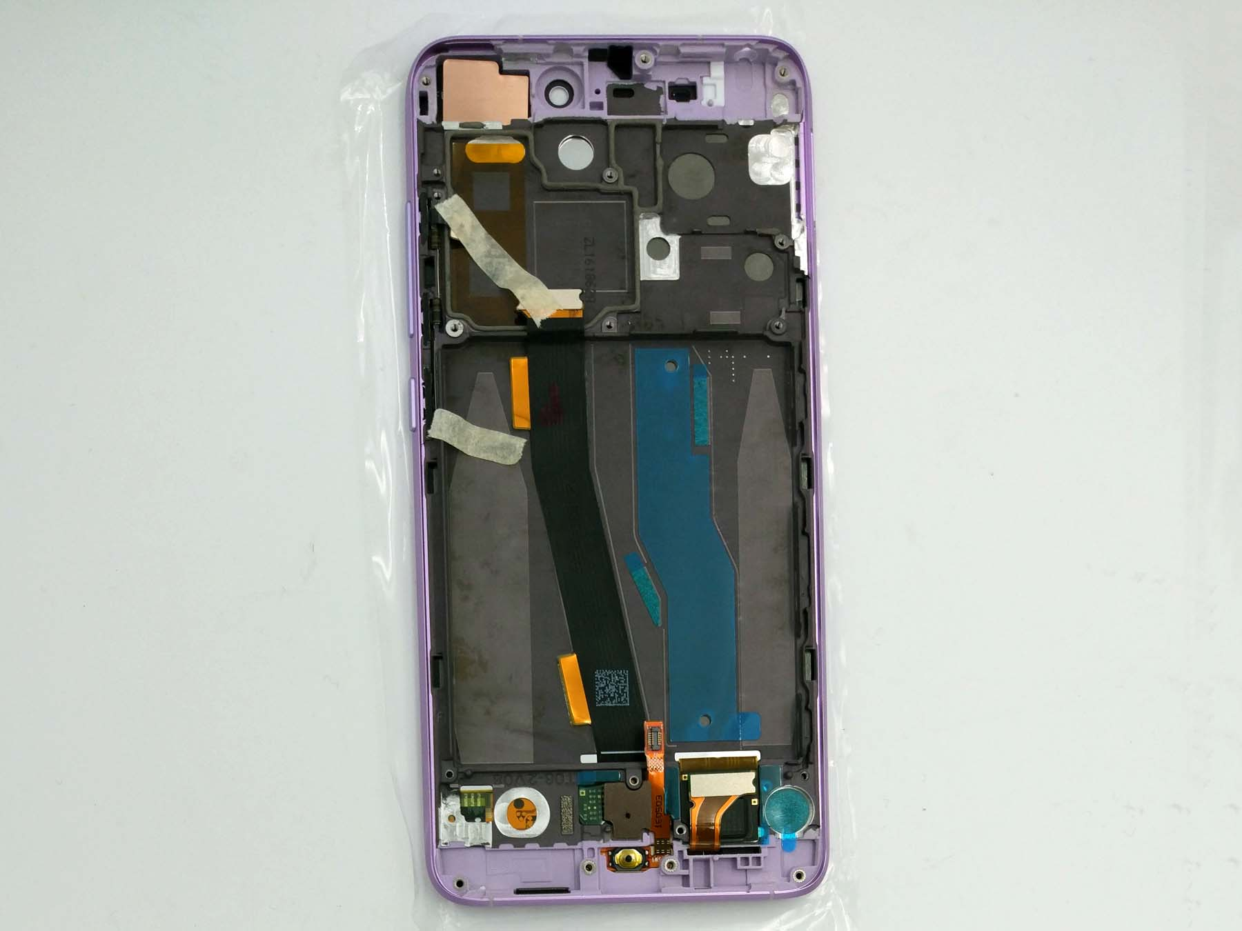 Original LCD Touch Screen Digitizer Assembly with bezel for xiaomi 5–Purple